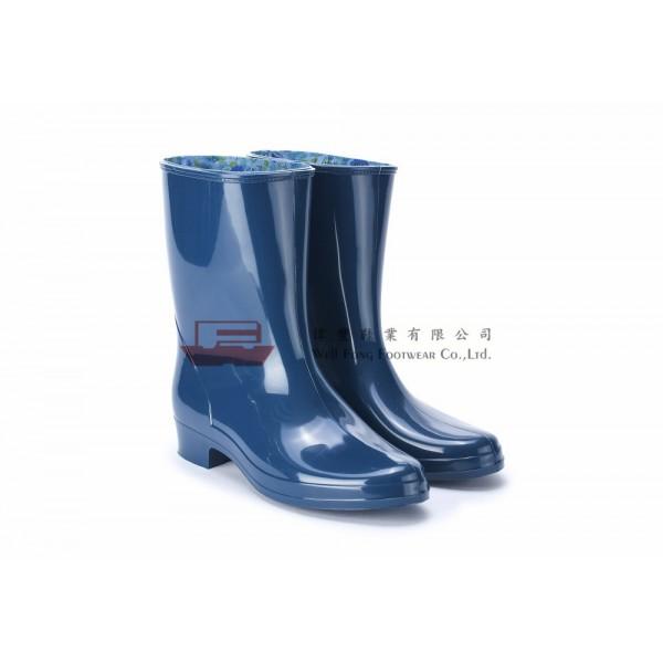 HLB3100日本製女仕勞工短水靴(藏藍)